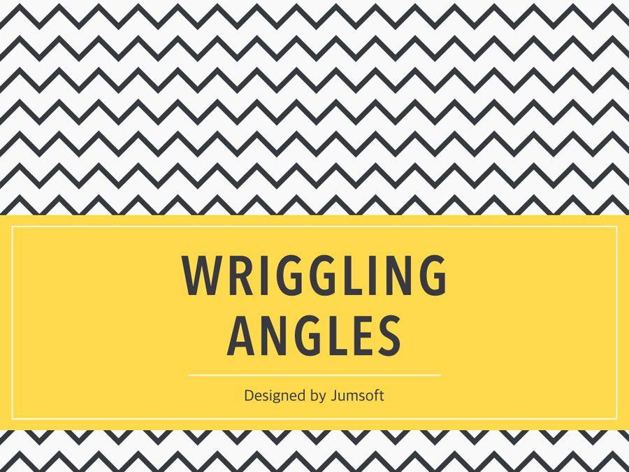 Wriggling Angles PowerPoint Template, Slide 2, 05999, Presentation Templates — PoweredTemplate.com