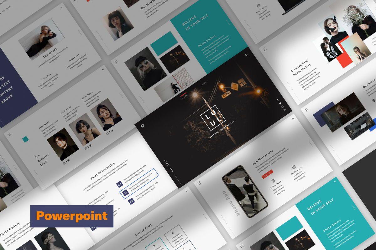 Lulu Business Powerpoint, 06001, Presentation Templates — PoweredTemplate.com
