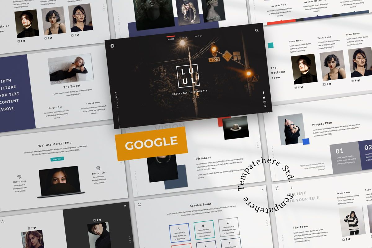Lulu Business Google Slide, 06003, Presentation Templates — PoweredTemplate.com