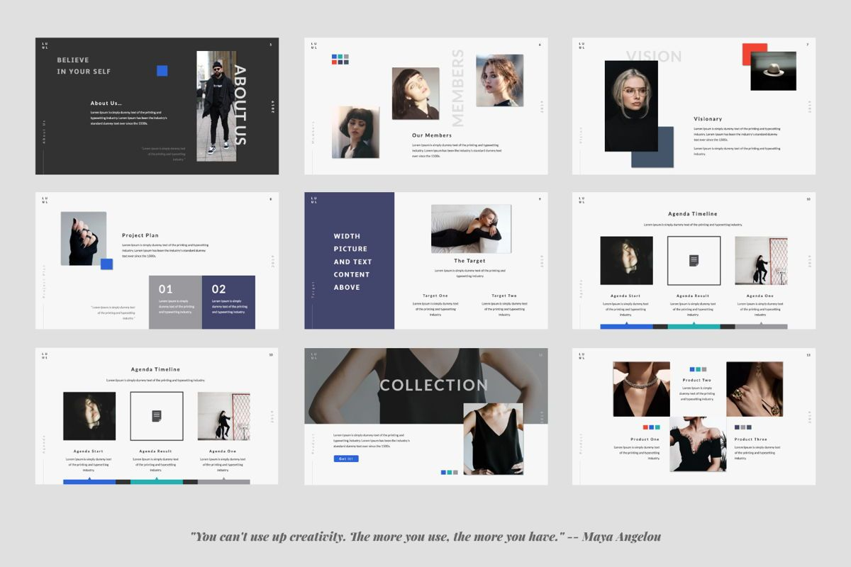 Lulu Business Google Slide, Slide 2, 06003, Presentation Templates — PoweredTemplate.com