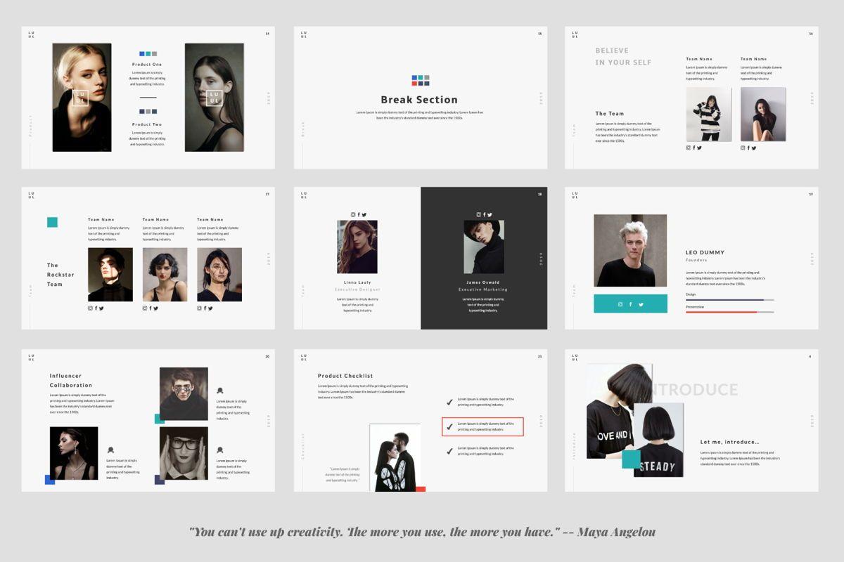 Lulu Business Google Slide, Slide 3, 06003, Presentation Templates — PoweredTemplate.com