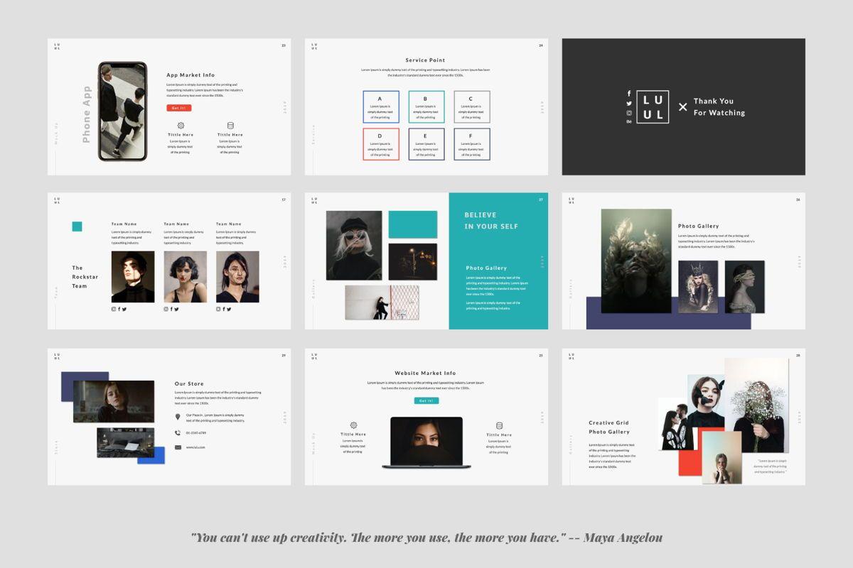 Lulu Business Google Slide, Slide 4, 06003, Presentation Templates — PoweredTemplate.com