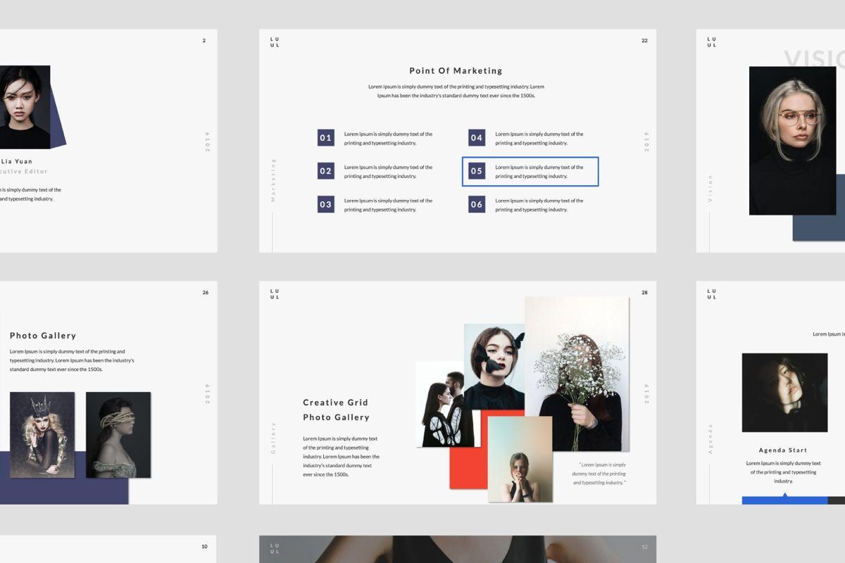 Lulu Business Google Slide, Slide 5, 06003, Presentation Templates — PoweredTemplate.com