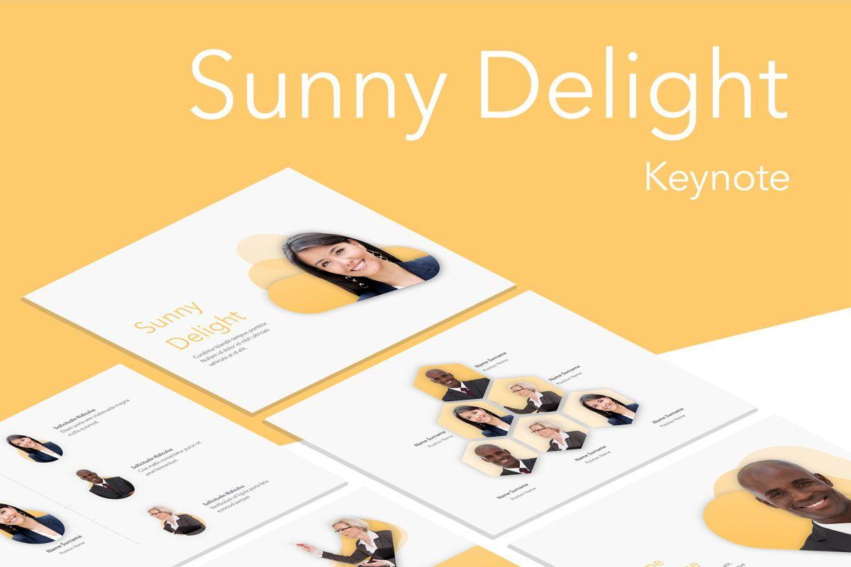 Sunny Delight Keynote Template, 06004, Presentation Templates — PoweredTemplate.com