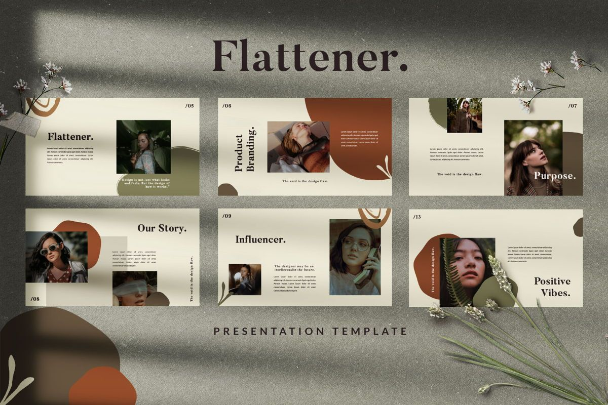 Flattener Creative Powerpoint, Slide 6, 06005, Presentation Templates — PoweredTemplate.com