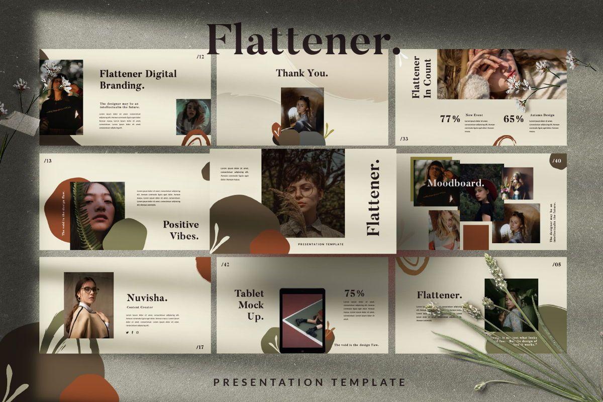 Flattener Creative Powerpoint, Slide 8, 06005, Presentation Templates — PoweredTemplate.com