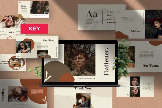 Presentation Templates: Flattener Creative Keynote #06006
