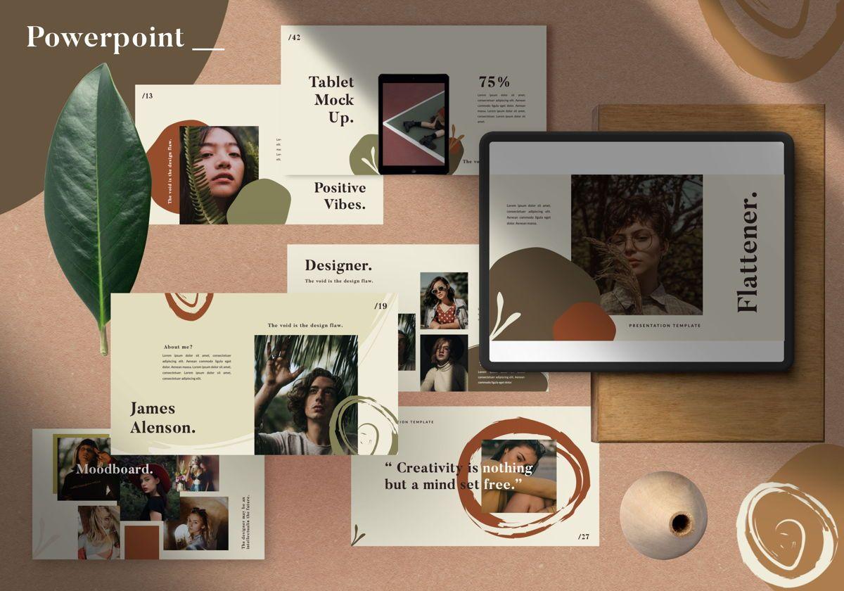 Flattener Creative Google Slide, 06007, Presentation Templates — PoweredTemplate.com