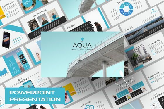 Presentation Templates: Aqua Business Powerpoint #06008