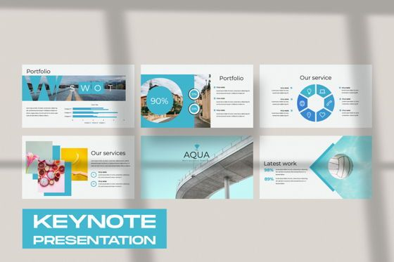 Presentation Templates: Aqua Business Keynote #06009