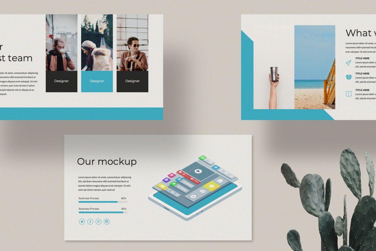 Aqua Business Keynote, Slide 2, 06009, Presentation Templates — PoweredTemplate.com