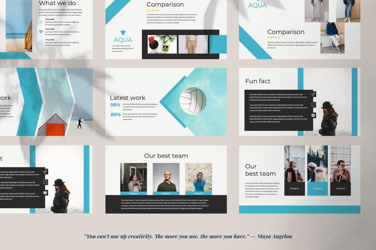 Aqua Business Keynote, Slide 3, 06009, Presentation Templates — PoweredTemplate.com