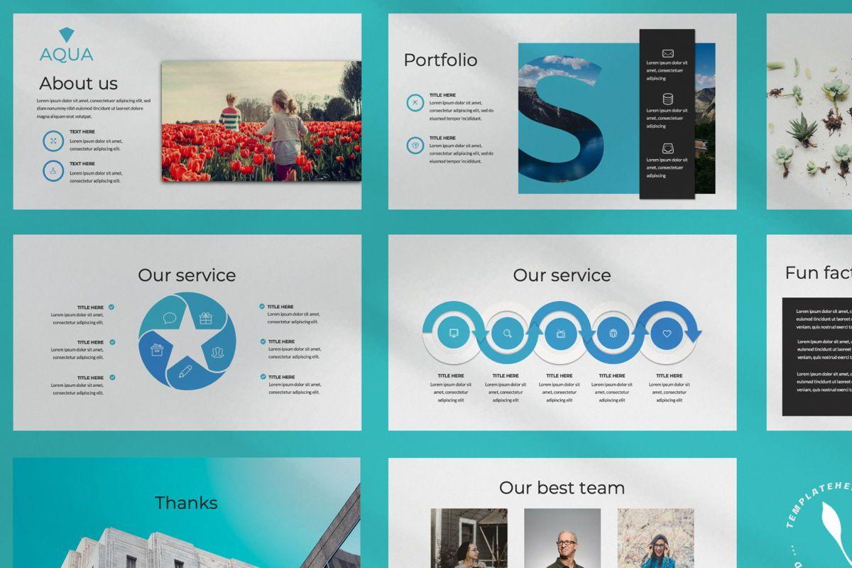 Aqua Business Keynote, Slide 9, 06009, Presentation Templates — PoweredTemplate.com
