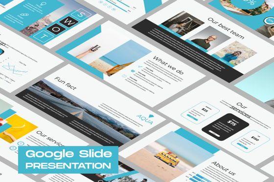 Presentation Templates: Aqua Business Google Slide #06010