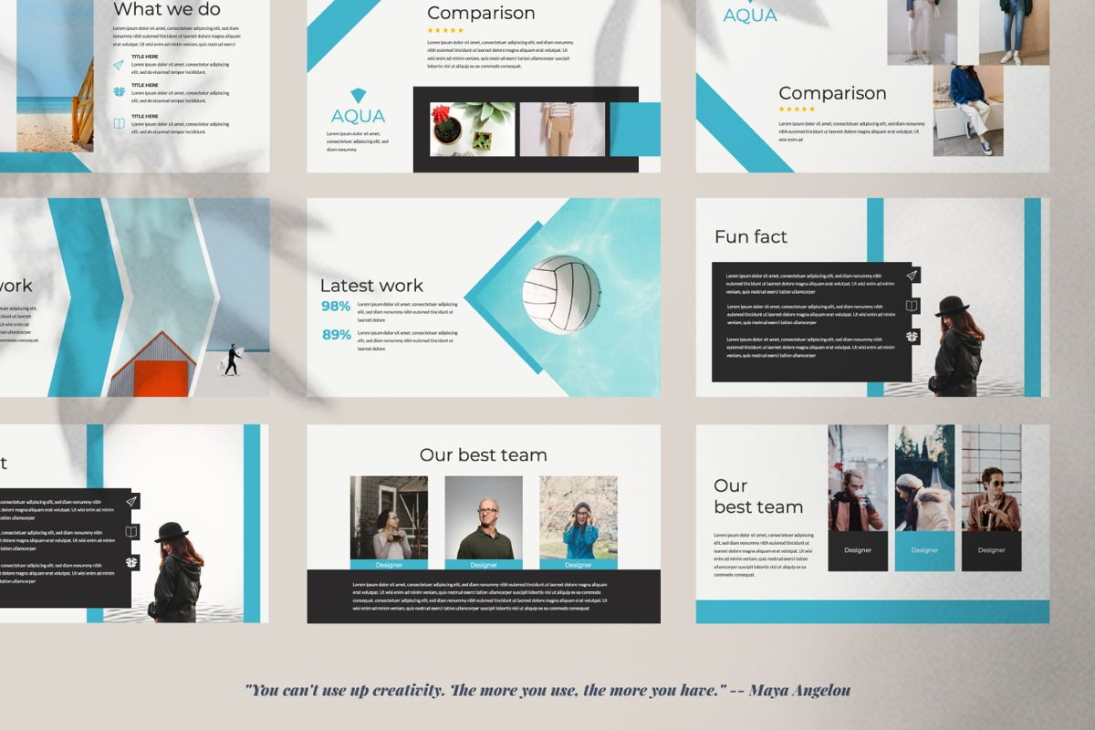 Aqua Business Google Slide, Slide 3, 06010, Presentation Templates — PoweredTemplate.com