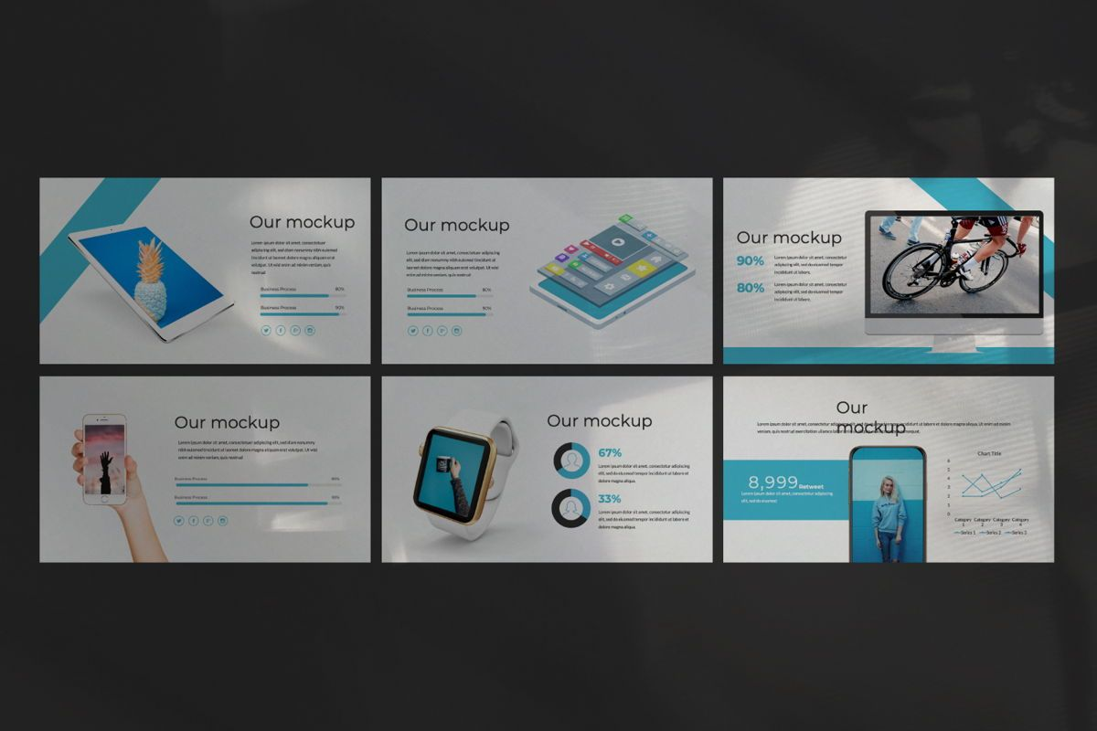 Aqua Business Google Slide, Slide 5, 06010, Presentation Templates — PoweredTemplate.com