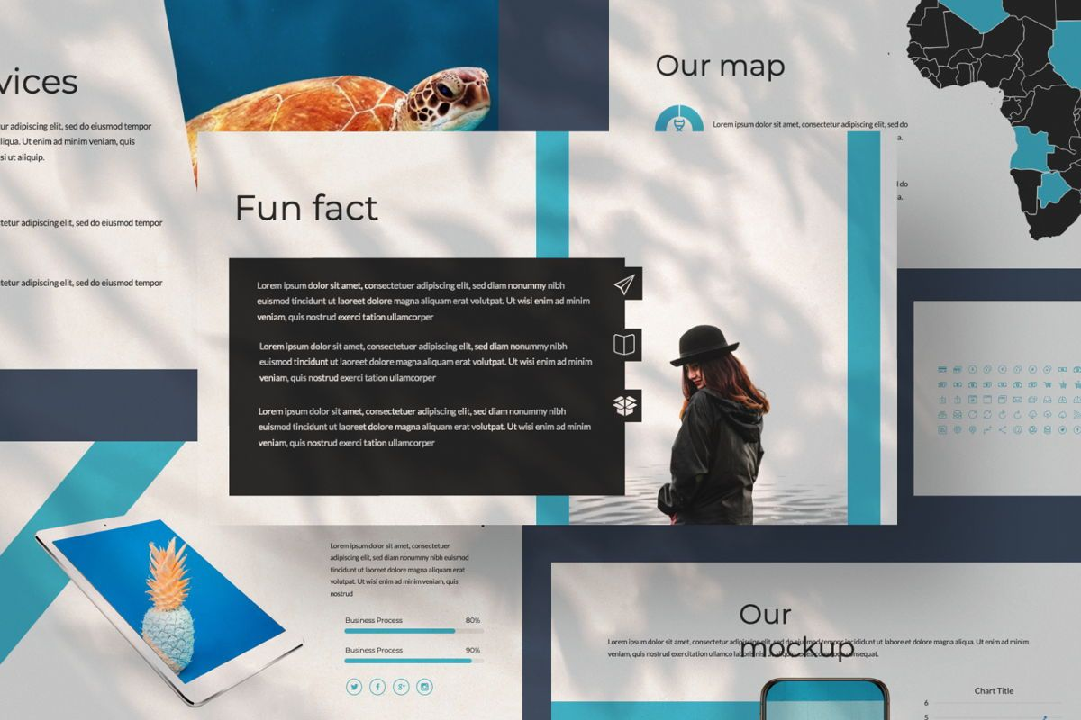 Aqua Business Google Slide, Slide 8, 06010, Presentation Templates — PoweredTemplate.com