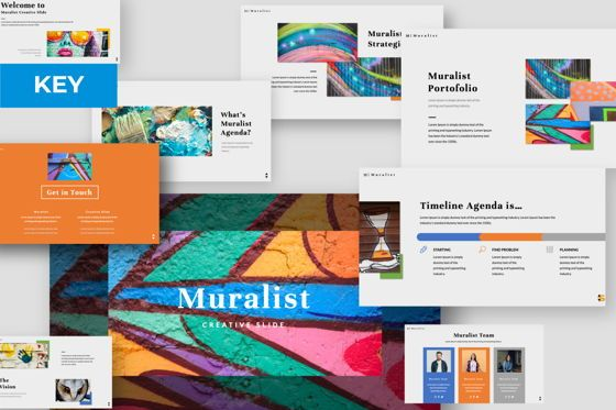 Presentation Templates: Muralist Creative Keynote #06020