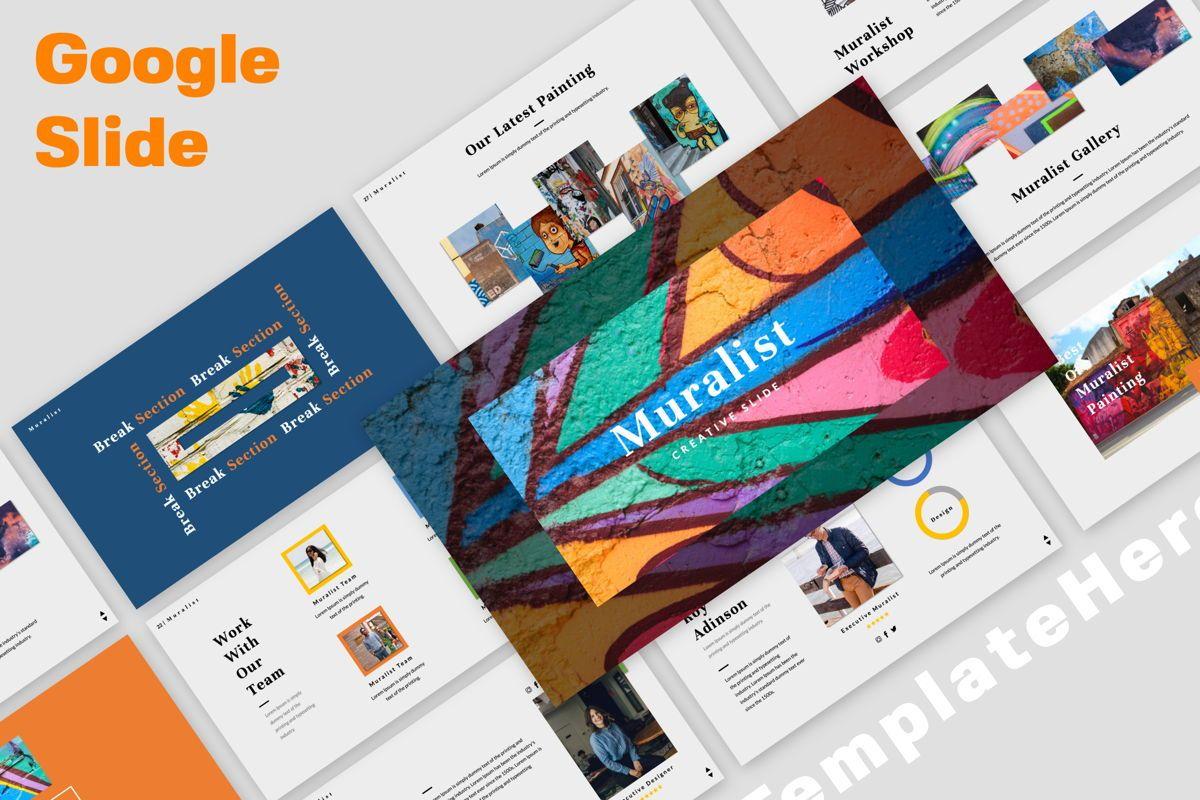 Muralist Creative Google Slide, 06021, Presentation Templates — PoweredTemplate.com