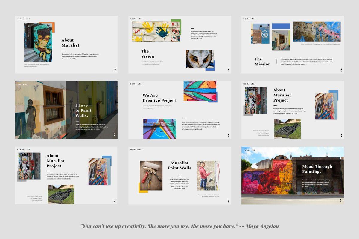 Muralist Creative Google Slide, Slide 2, 06021, Presentation Templates — PoweredTemplate.com