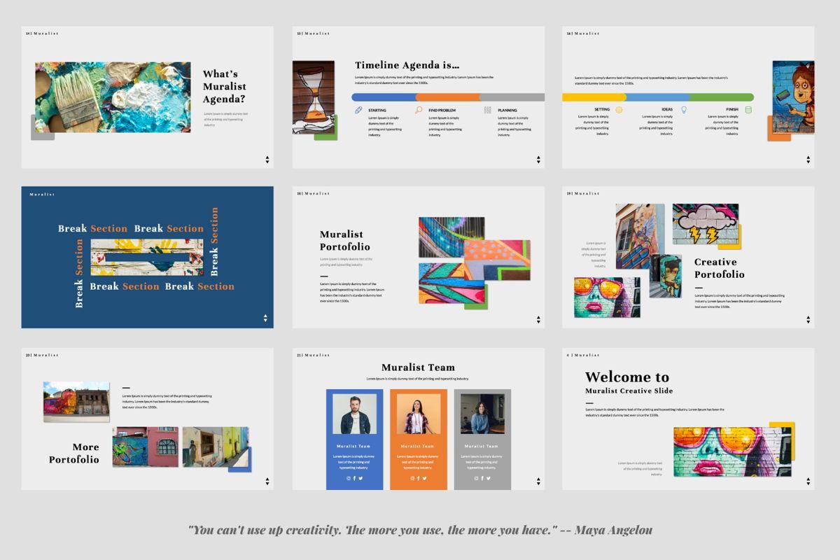 Muralist Creative Google Slide, Slide 3, 06021, Presentation Templates — PoweredTemplate.com