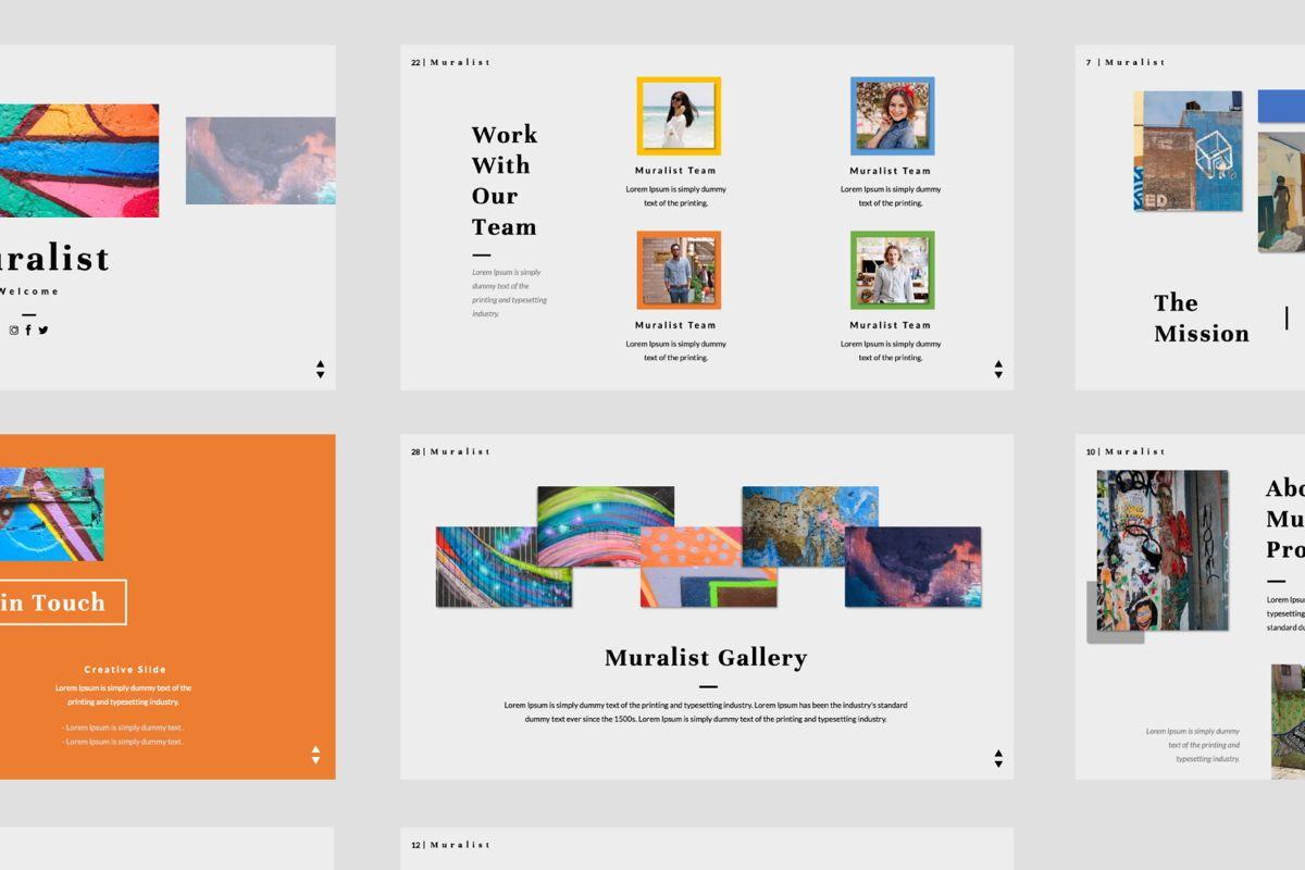 Muralist Creative Google Slide, Slide 5, 06021, Presentation Templates — PoweredTemplate.com