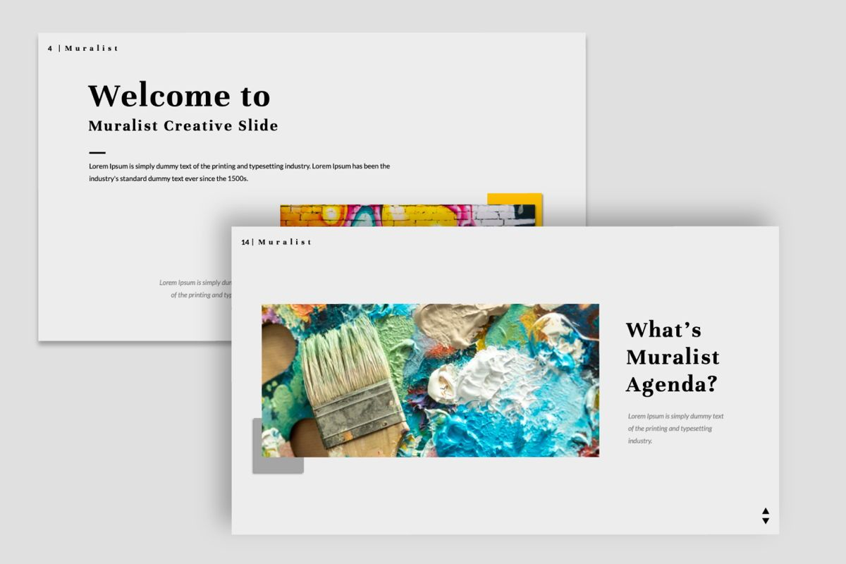 Muralist Creative Google Slide, Slide 6, 06021, Presentation Templates — PoweredTemplate.com