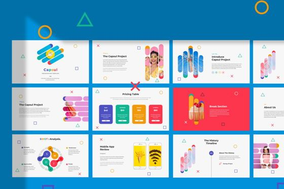 Presentation Templates: Capsul Business Powerpoint #06022