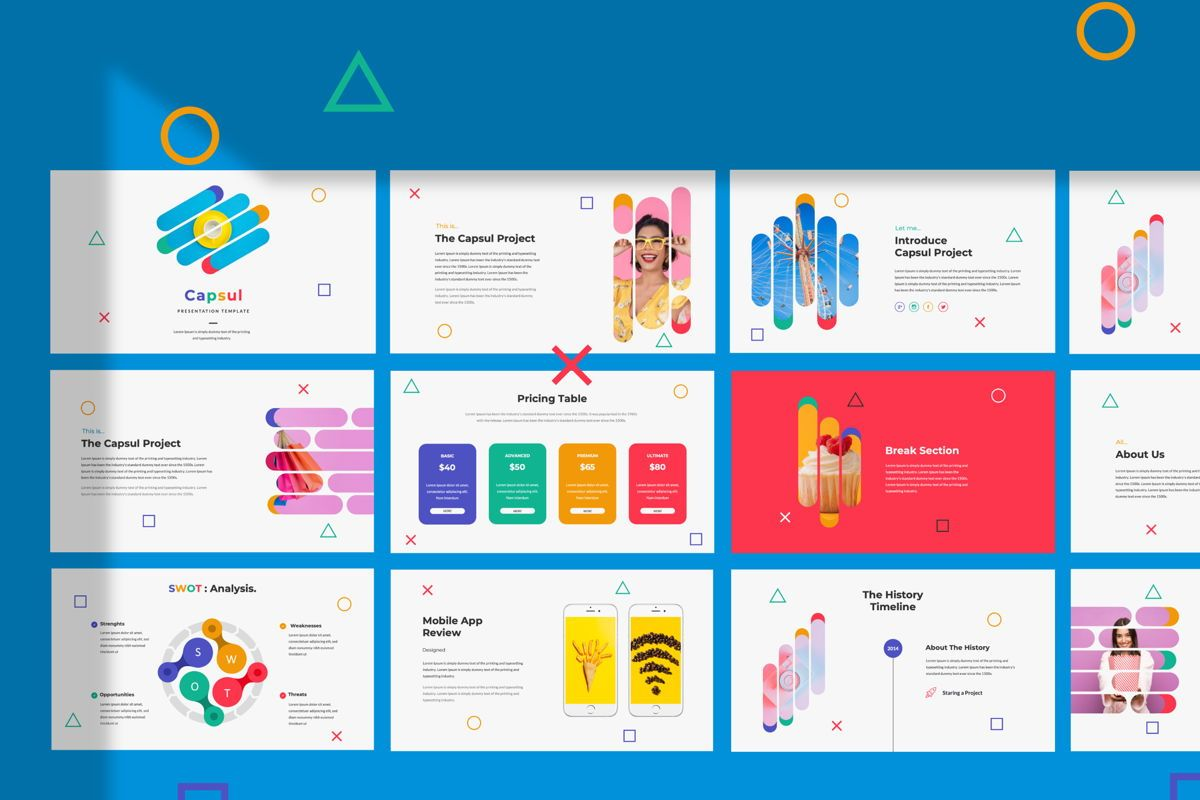 Capsul Business Powerpoint, 06022, Presentation Templates — PoweredTemplate.com