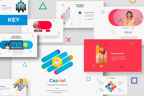 Presentation Templates: Capsul Business Keynote #06023