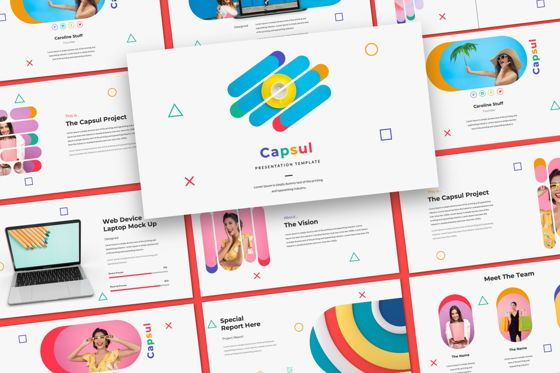 Presentation Templates: Capsul Business Google Slide #06024