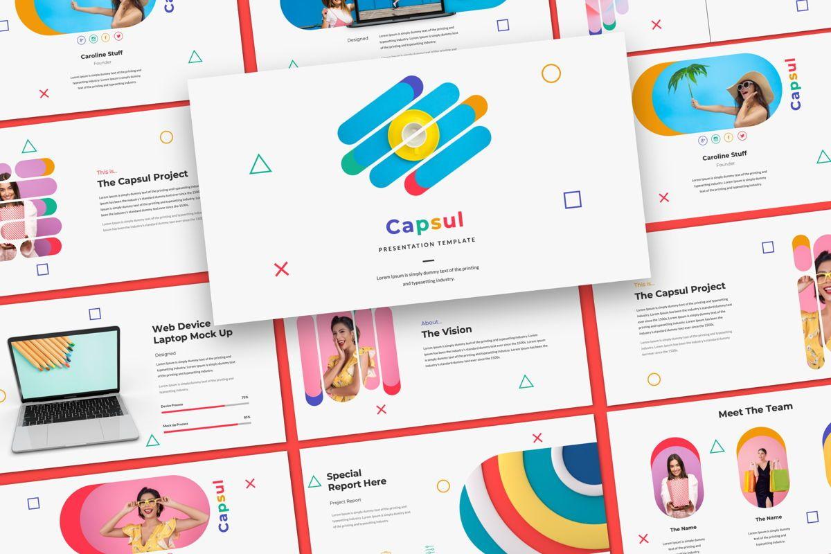 Capsul Business Google Slide, 06024, Presentation Templates — PoweredTemplate.com
