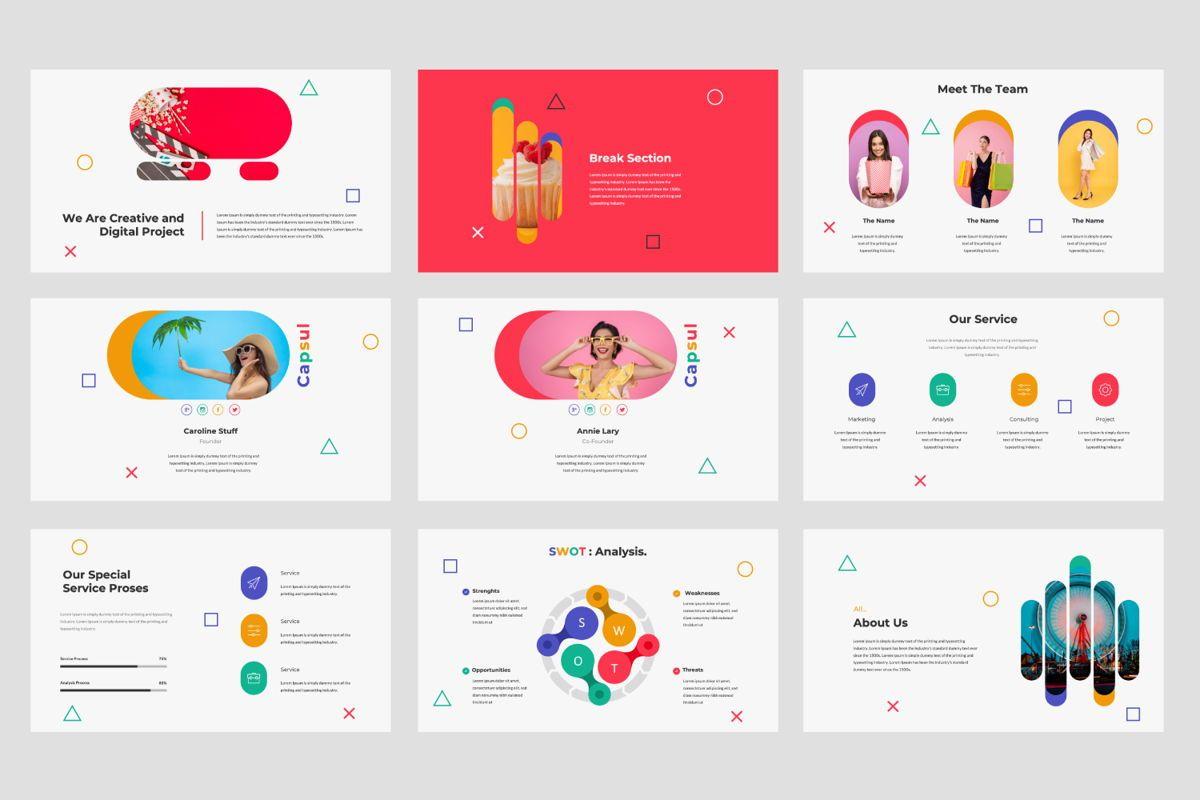 Capsul Business Google Slide, Slide 3, 06024, Presentation Templates — PoweredTemplate.com