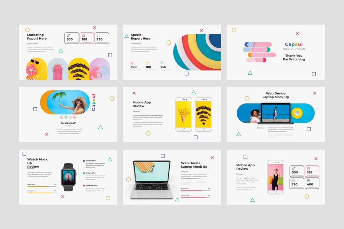 Capsul Business Google Slide, Slide 4, 06024, Presentation Templates — PoweredTemplate.com