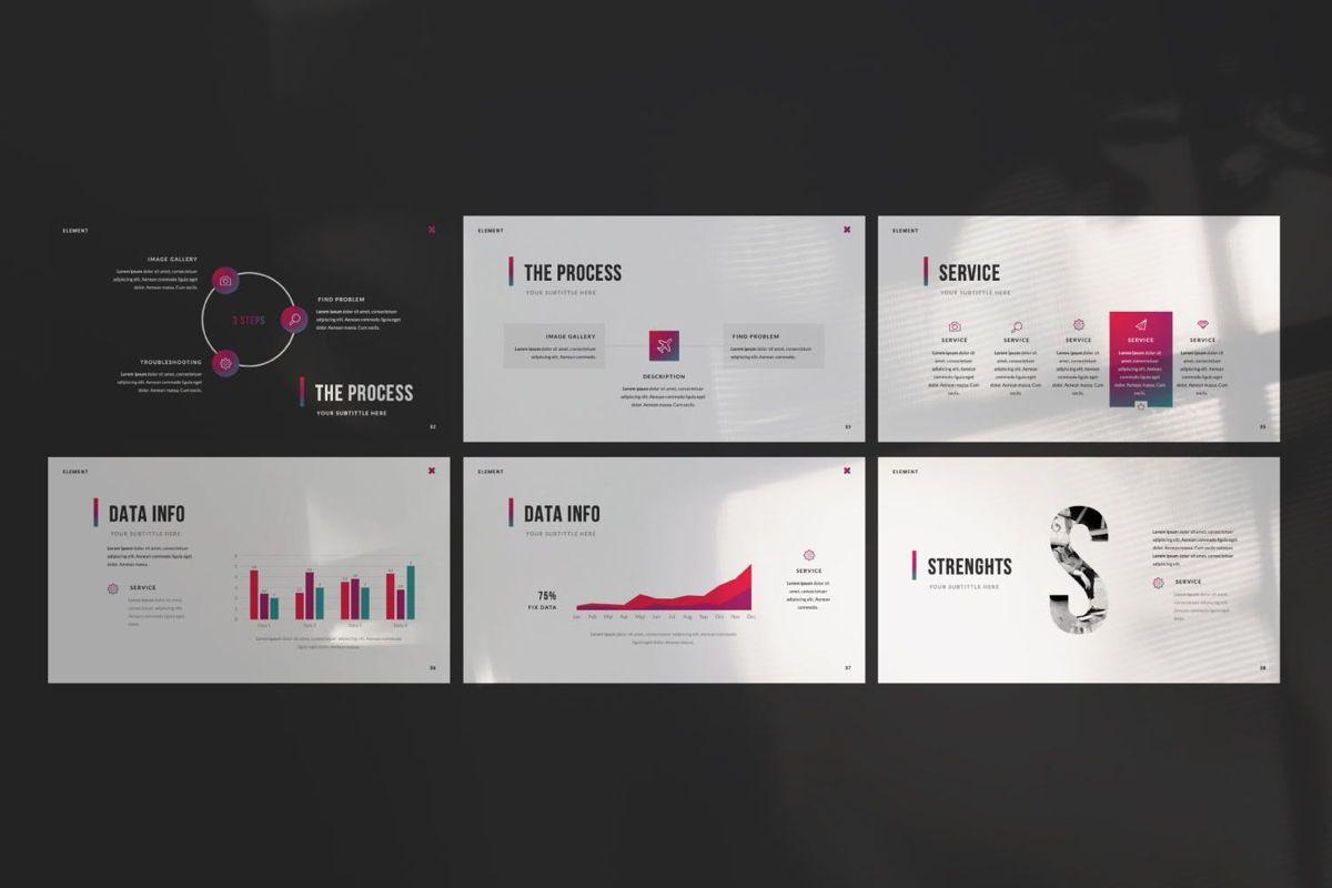 Element Creative Powerpoint, Slide 4, 06025, Presentation Templates — PoweredTemplate.com