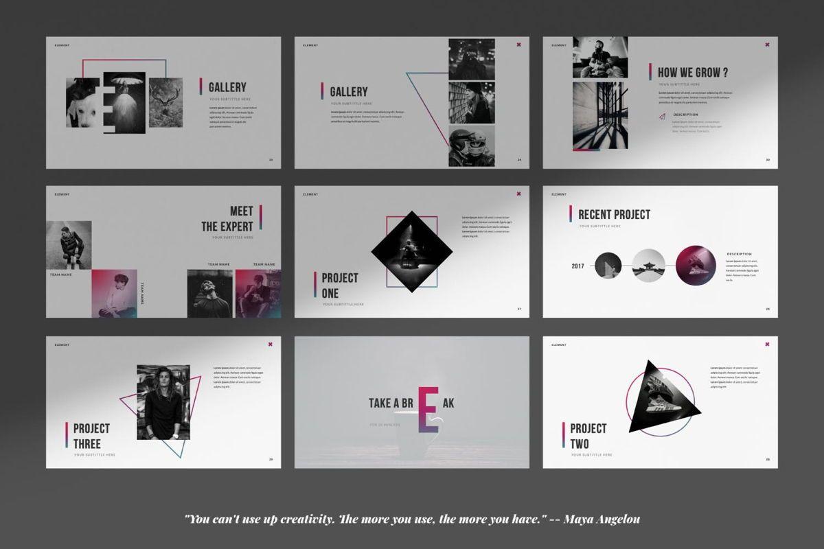 Element Creative Powerpoint, Slide 5, 06025, Presentation Templates — PoweredTemplate.com