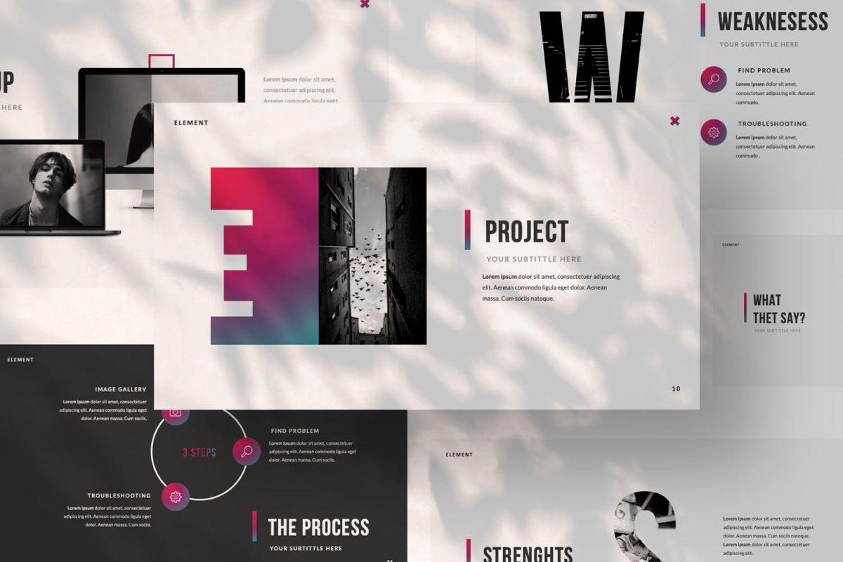 Element Creative Powerpoint, Slide 6, 06025, Presentation Templates — PoweredTemplate.com