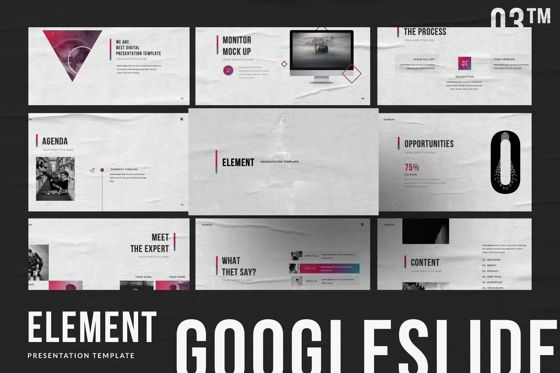 Presentation Templates: Element Creative Google Slide #06027