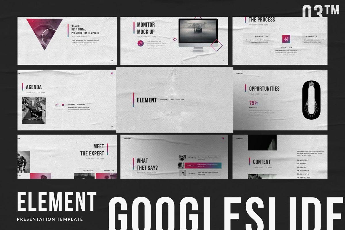 Element Creative Google Slide, 06027, Presentation Templates — PoweredTemplate.com