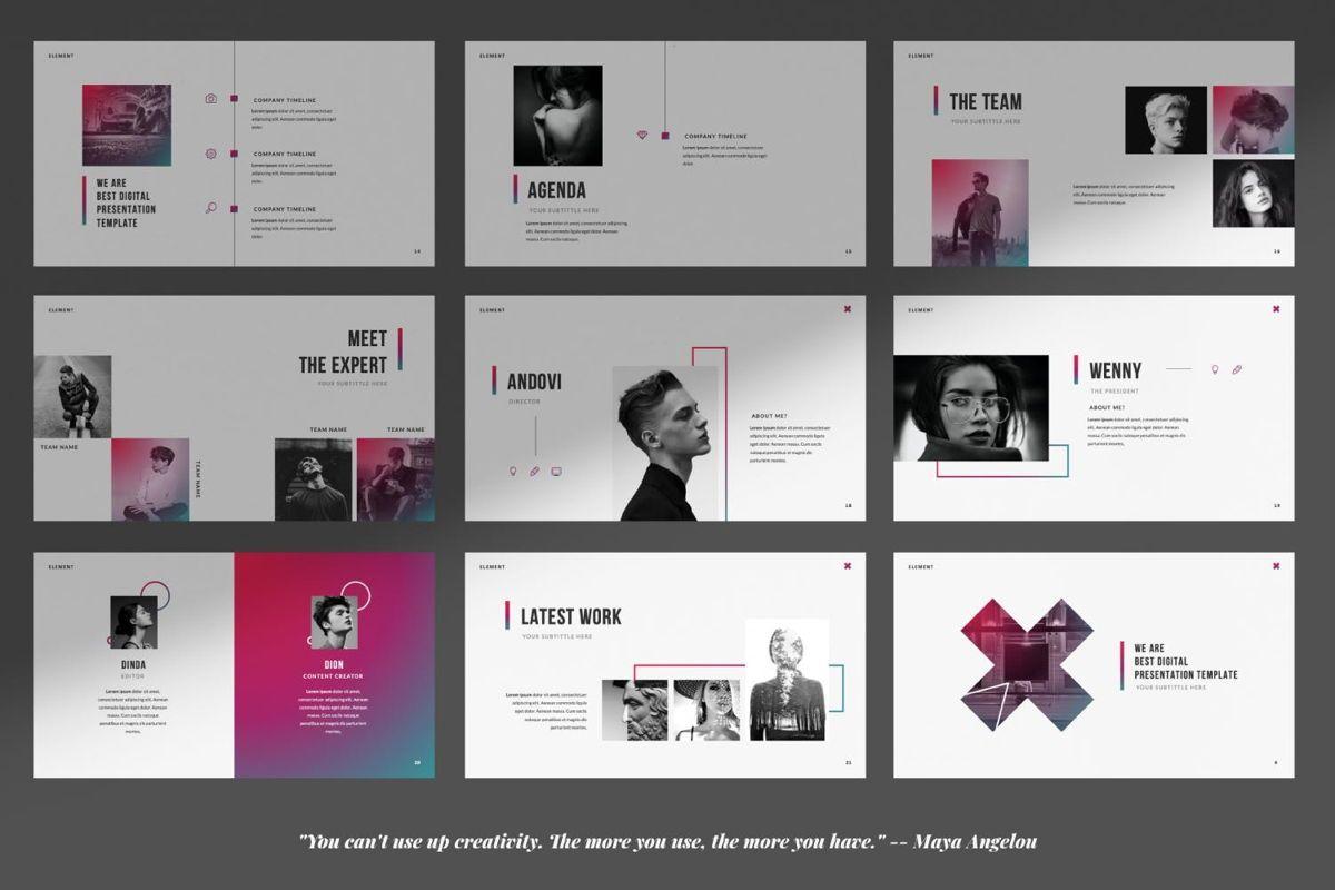 Element Creative Google Slide, Slide 2, 06027, Presentation Templates — PoweredTemplate.com