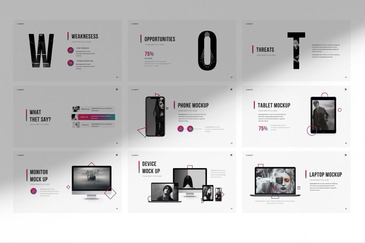 Element Creative Google Slide, Slide 3, 06027, Presentation Templates — PoweredTemplate.com