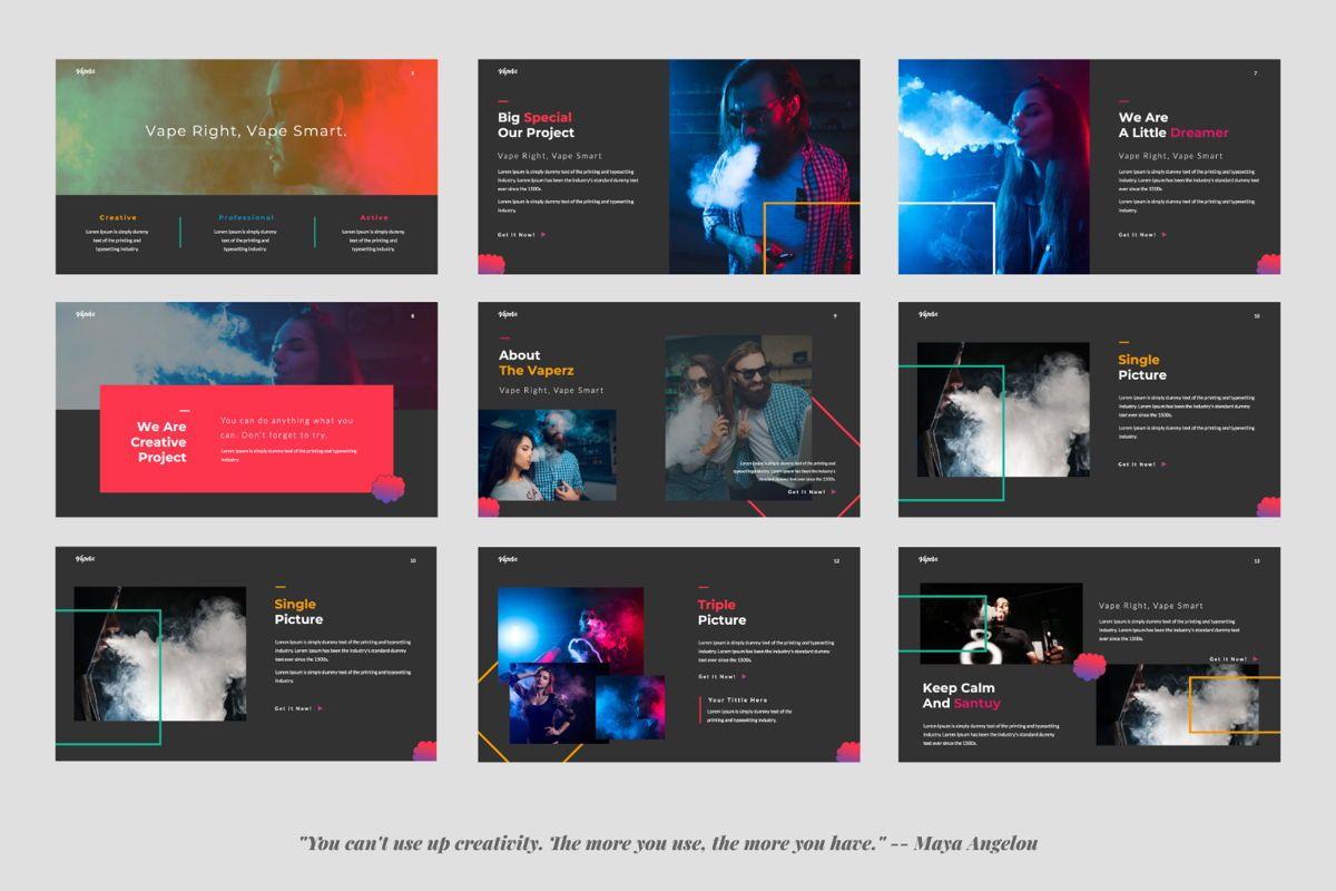 Vaperz Business Google Slide, Slide 2, 06030, Presentation Templates — PoweredTemplate.com