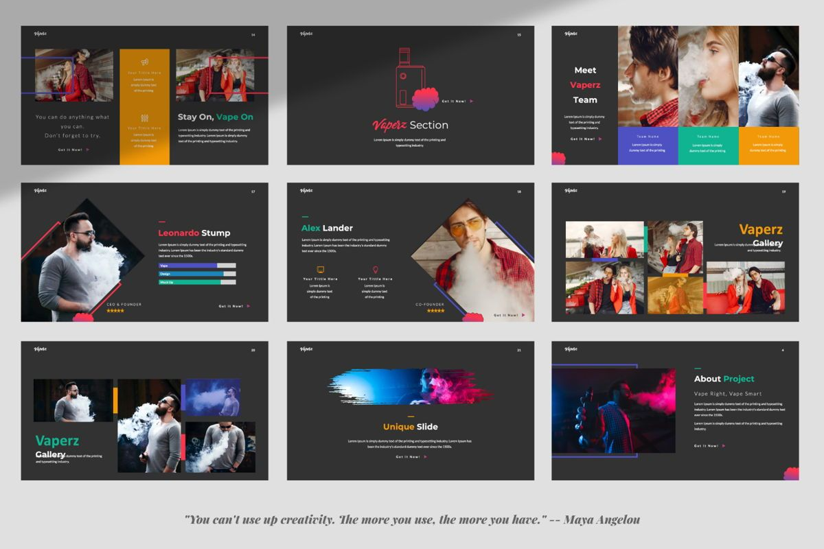 Vaperz Business Google Slide, Slide 3, 06030, Presentation Templates — PoweredTemplate.com