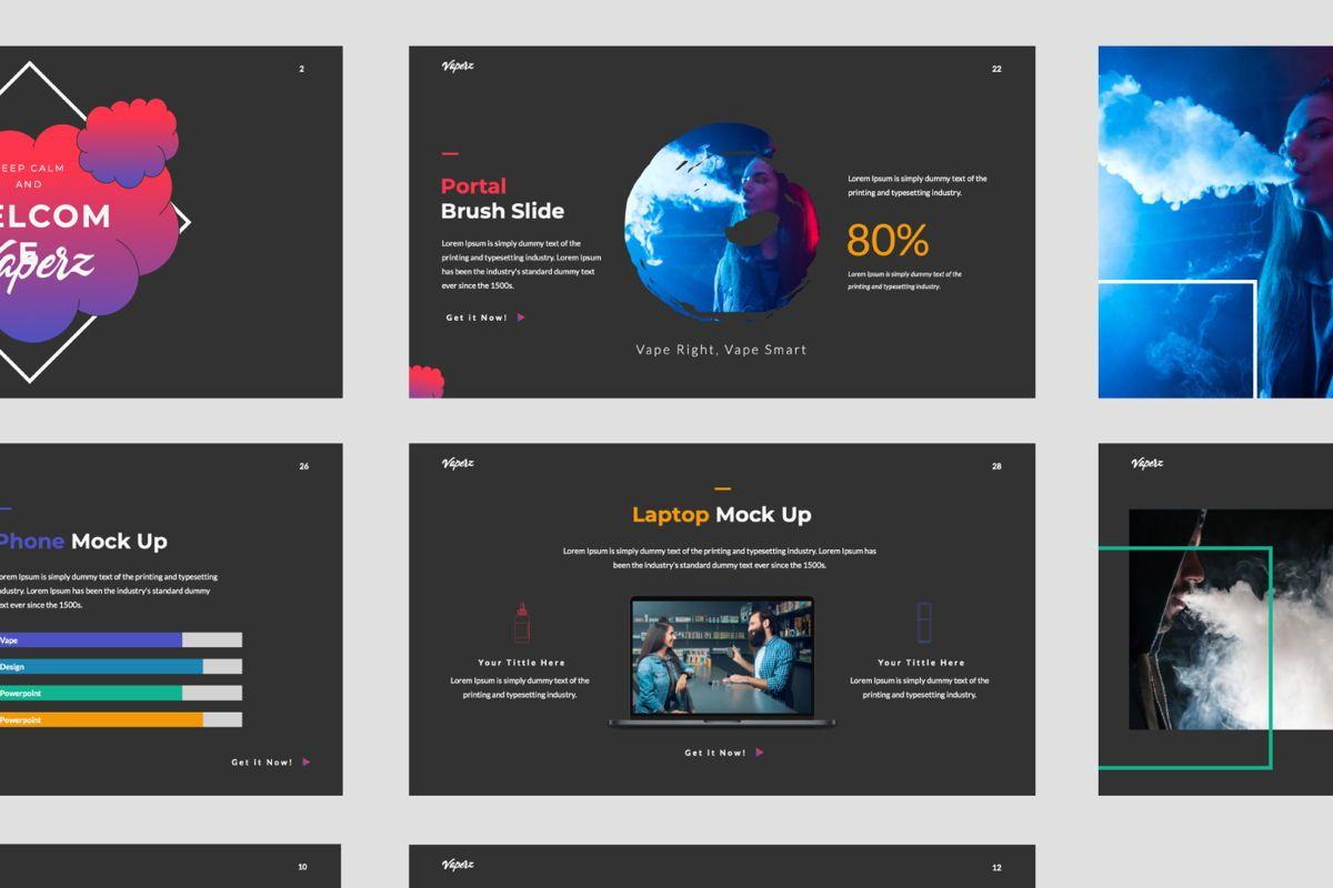 Vaperz Business Google Slide, Slide 6, 06030, Presentation Templates — PoweredTemplate.com