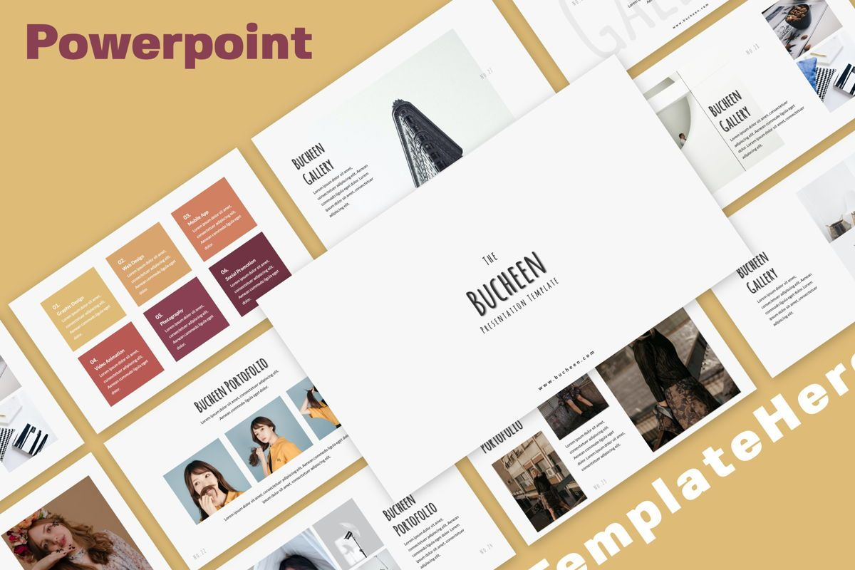 Bucheen Creative Powerpoint, 06031, Presentation Templates — PoweredTemplate.com