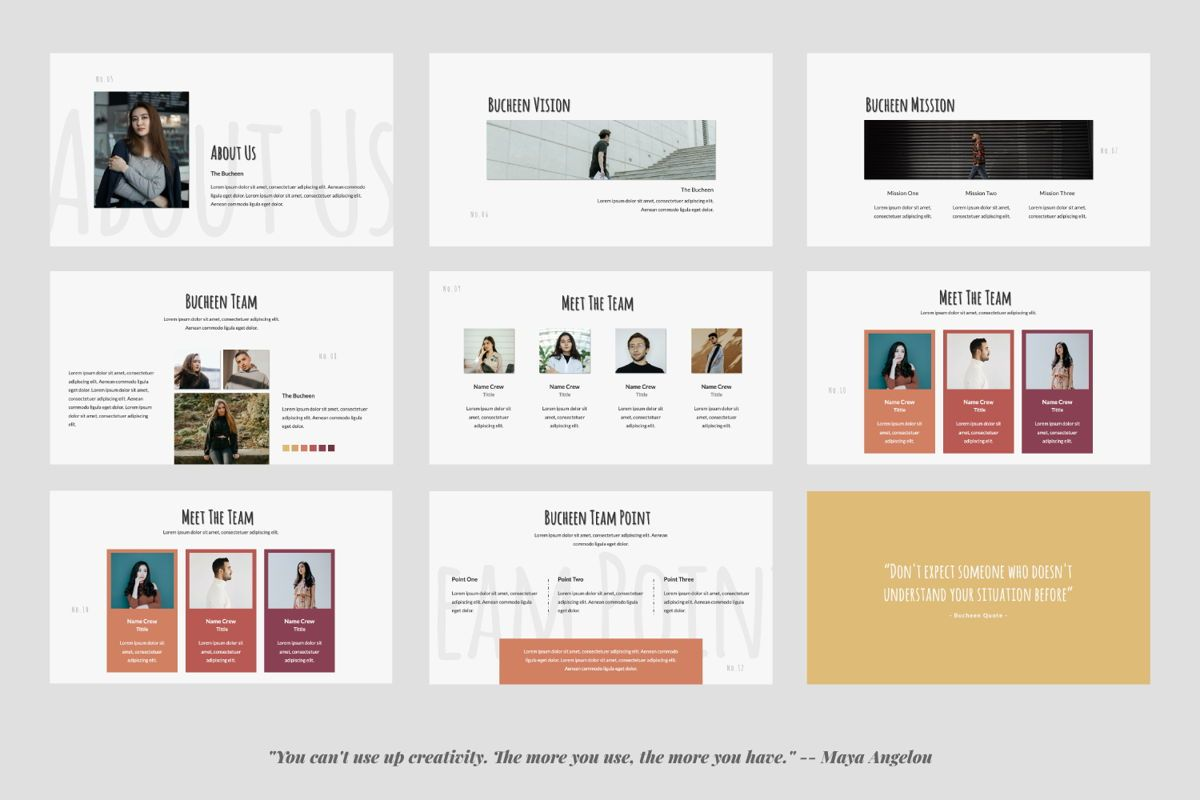 Bucheen Creative Powerpoint, Slide 2, 06031, Presentation Templates — PoweredTemplate.com