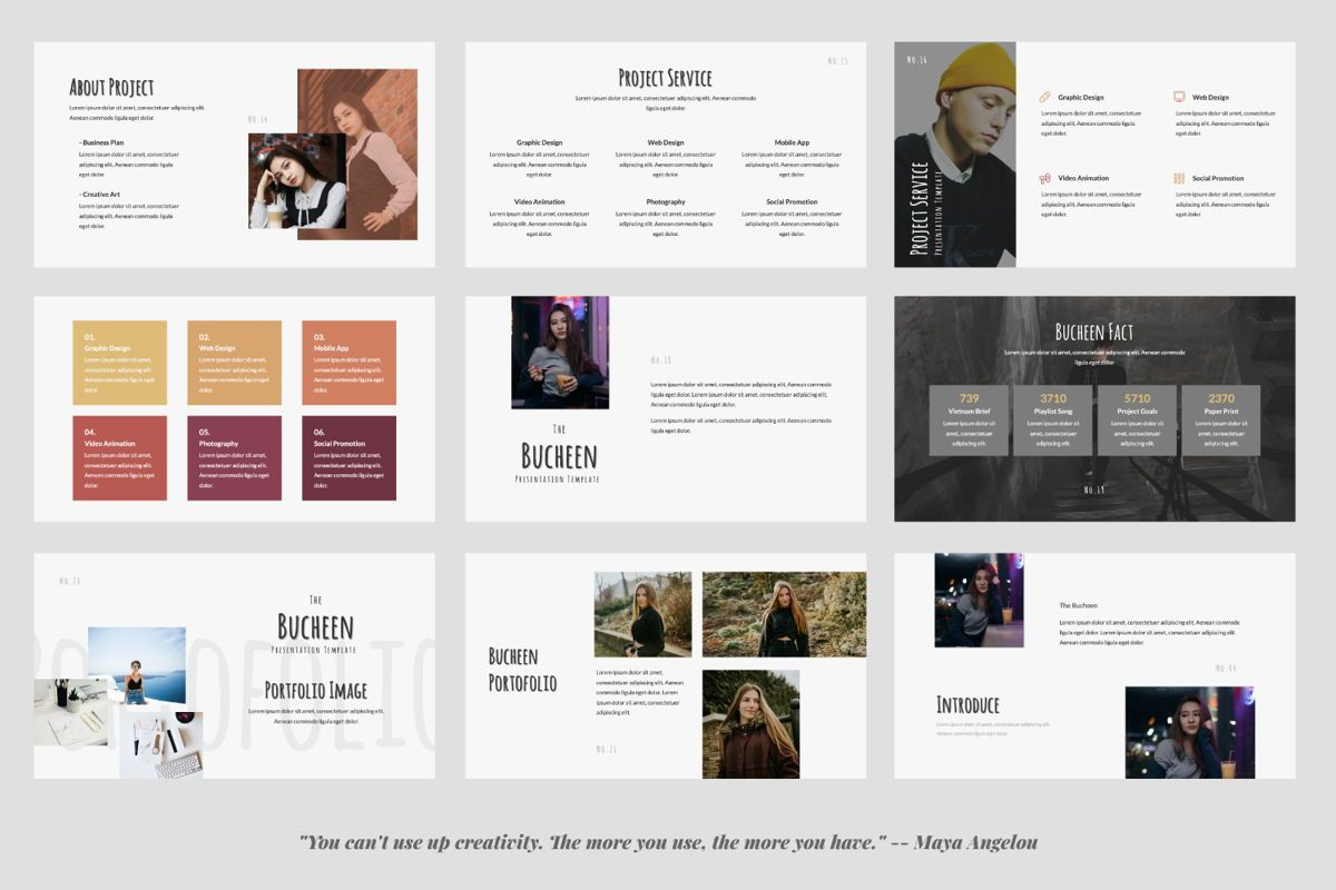 Bucheen Creative Powerpoint, Slide 3, 06031, Presentation Templates — PoweredTemplate.com