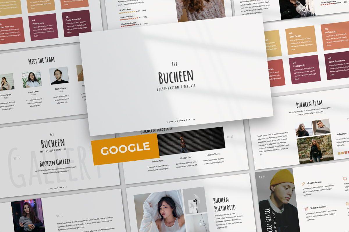 Bucheen Creative Google Slide, 06033, Presentation Templates — PoweredTemplate.com