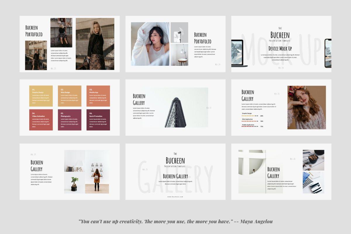 Bucheen Creative Google Slide, Slide 4, 06033, Presentation Templates — PoweredTemplate.com