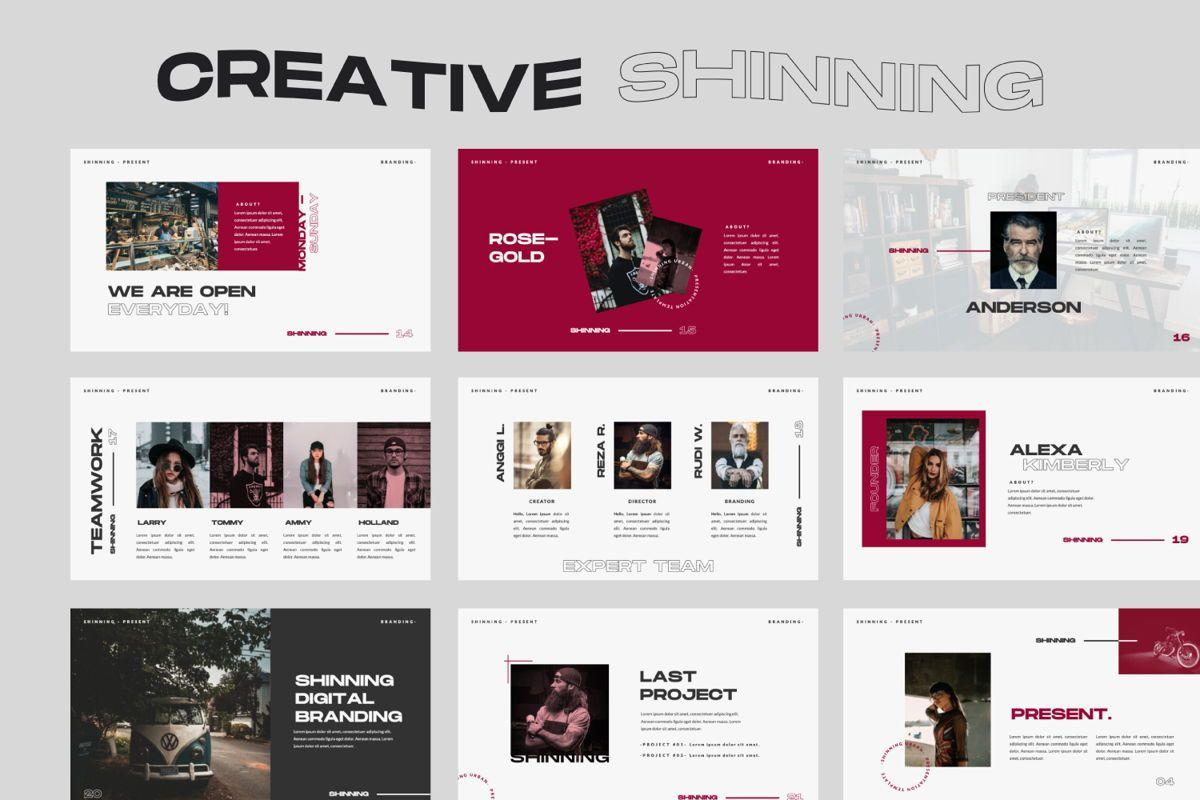 Shinning Creative Keynote, Slide 3, 06035, Presentation Templates — PoweredTemplate.com